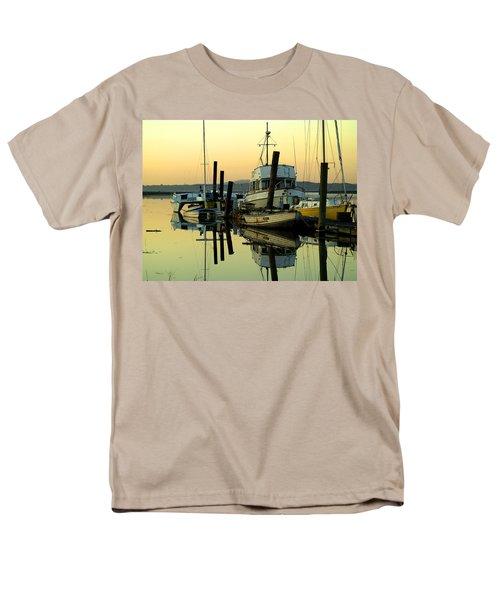 Sunrise On The Petaluma River Men's T-Shirt  (Regular Fit) by Bill Gallagher