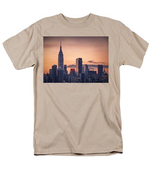 Manhattan Sunrise Men's T-Shirt  (Regular Fit) by Eduard Moldoveanu
