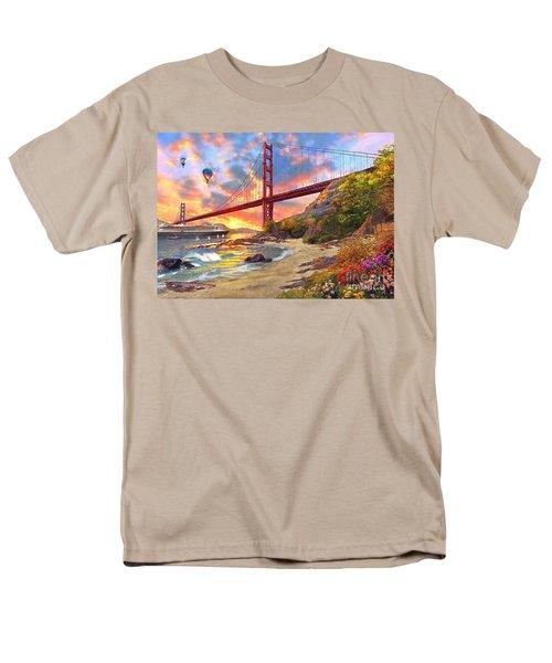 Sunset At Golden Gate Men's T-Shirt  (Regular Fit) by Dominic Davison