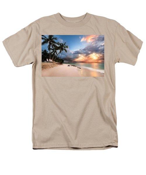 Sunset Over Bacardi Island Men's T-Shirt  (Regular Fit) by Mihai Andritoiu
