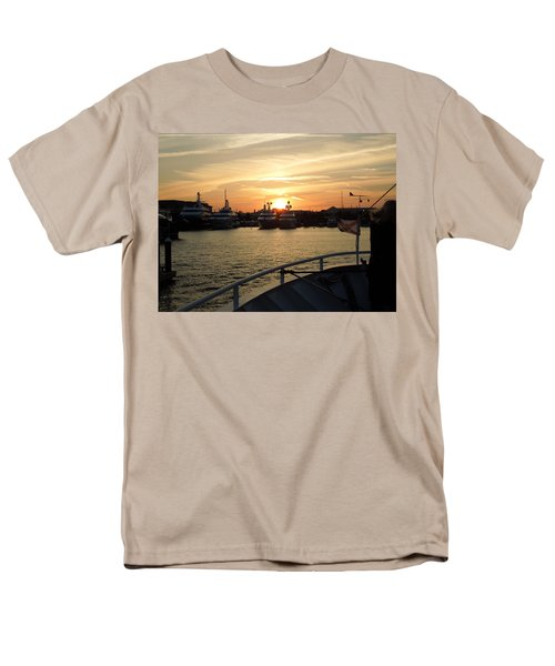 Men's T-Shirt  (Regular Fit) featuring the photograph Sunset Over The Marina by Ron Davidson
