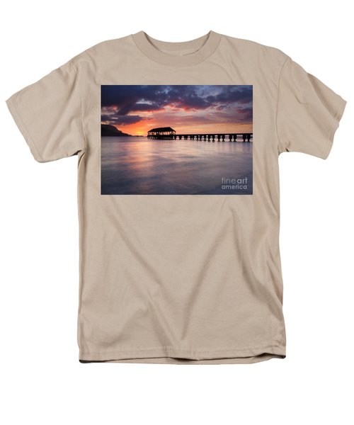 Sunset Pier Men's T-Shirt  (Regular Fit) by Mike  Dawson