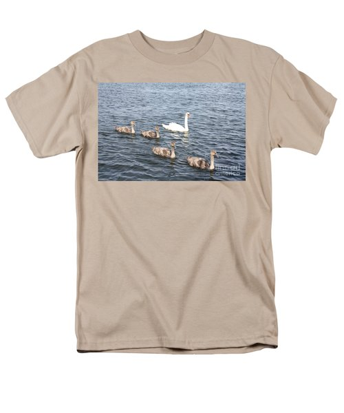 Men's T-Shirt  (Regular Fit) featuring the photograph Swan And His Ducklings by John Telfer