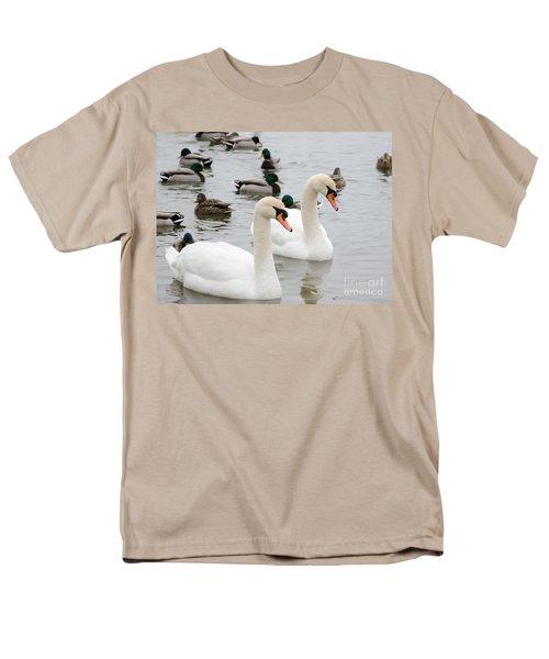 Swan Couple Men's T-Shirt  (Regular Fit) by Laurel Best