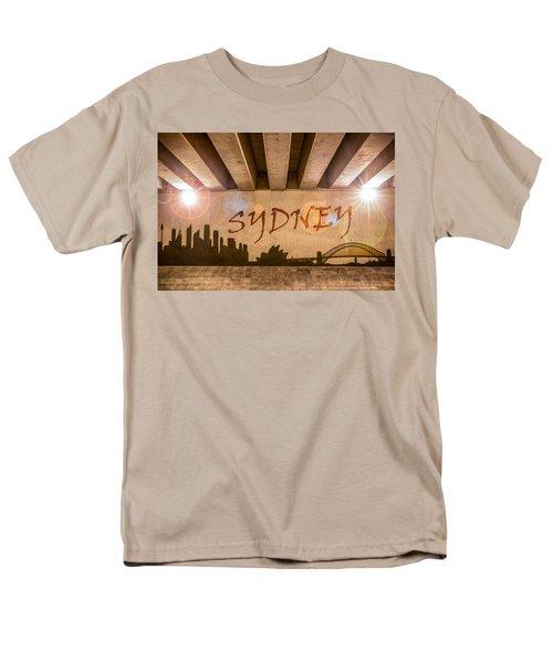 Sydney Graffiti Skyline Men's T-Shirt  (Regular Fit)