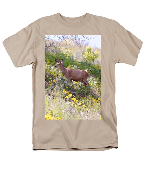 Men's T-Shirt  (Regular Fit) featuring the photograph Taking A Stroll In The Country by Athena Mckinzie