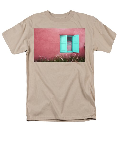 Men's T-Shirt  (Regular Fit) featuring the photograph Taos Window I by Lanita Williams