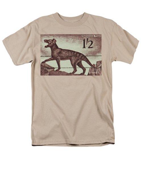 Tasmanian Tiger Vintage Postage Stamp Men's T-Shirt  (Regular Fit) by Andy Prendy