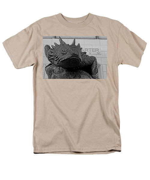 Tcu Horned Frog Black And White Men's T-Shirt  (Regular Fit) by Jonathan Davison