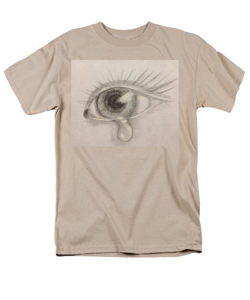 Men's T-Shirt  (Regular Fit) featuring the drawing Tear by Bozena Zajaczkowska