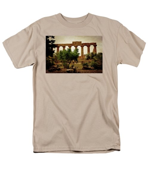 Temple Of Juno Lacinia In Agrigento Men's T-Shirt  (Regular Fit) by RicardMN Photography