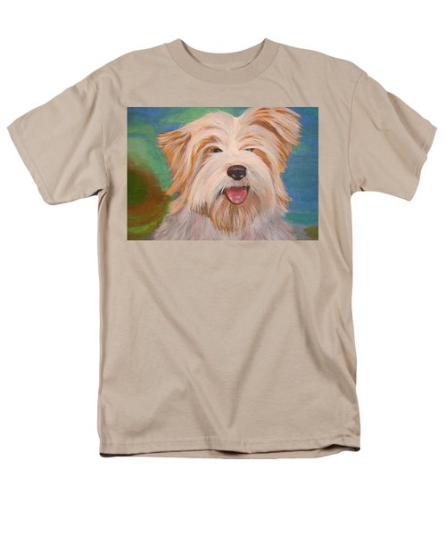 Terrier Portrait Men's T-Shirt  (Regular Fit) by Tracey Harrington-Simpson