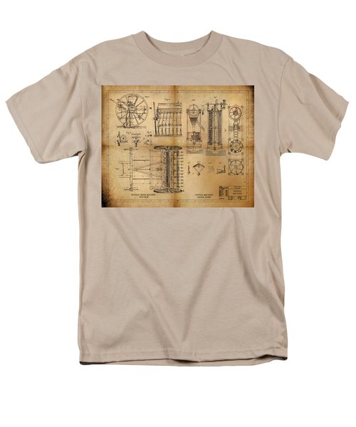 Men's T-Shirt  (Regular Fit) featuring the painting Textile Machine by James Christopher Hill