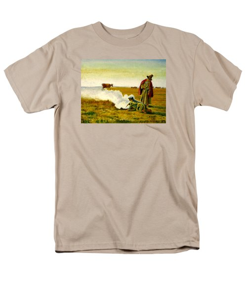 Men's T-Shirt  (Regular Fit) featuring the painting The Autumn by Henryk Gorecki