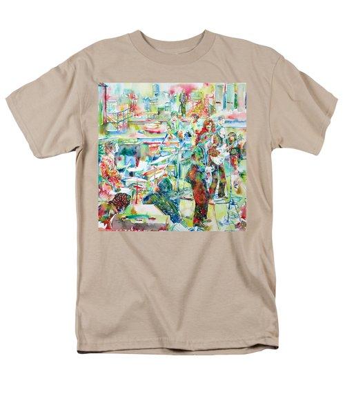 The Beatles Rooftop Concert - Watercolor Painting Men's T-Shirt  (Regular Fit)