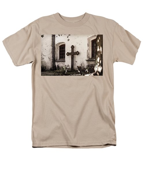 The Church Courtyard Men's T-Shirt  (Regular Fit) by Bill Howard