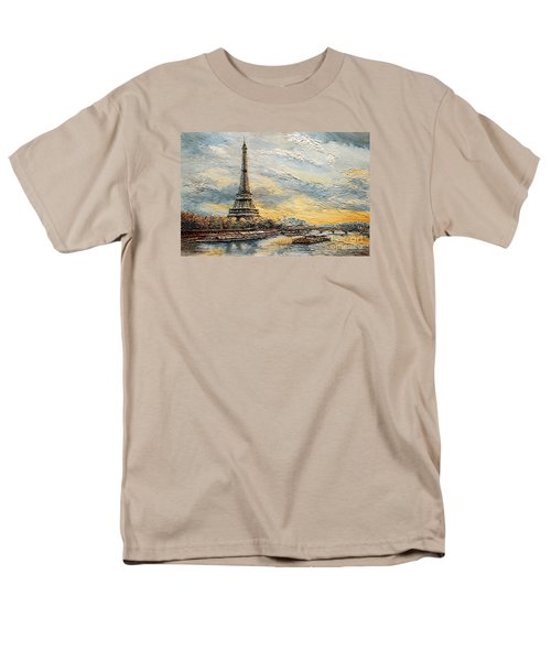 The Eiffel Tower- From The River Seine Men's T-Shirt  (Regular Fit) by Joey Agbayani