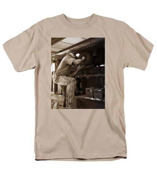 Men's T-Shirt  (Regular Fit) featuring the photograph The Farmer by Rebecca Davis