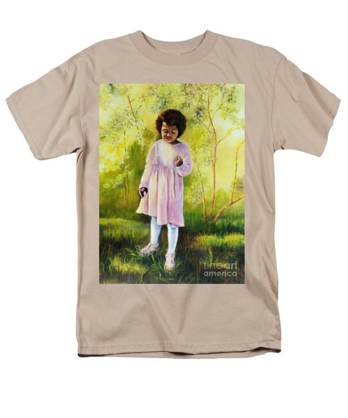 Men's T-Shirt  (Regular Fit) featuring the painting The Forsythia by Marlene Book