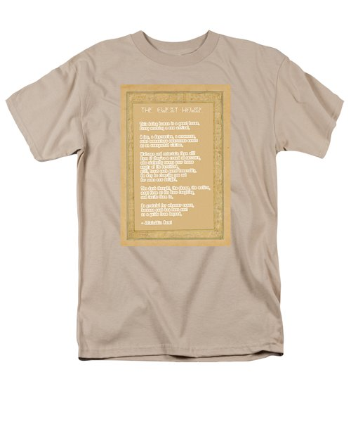The Guest House Poem By Rumi Men's T-Shirt  (Regular Fit) by Celestial Images