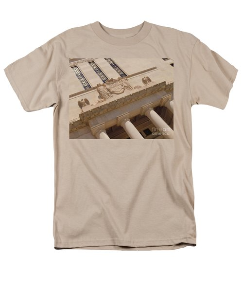 Men's T-Shirt  (Regular Fit) featuring the photograph The Historical Federal Reserve Bank Of Dallas by Robert ONeil