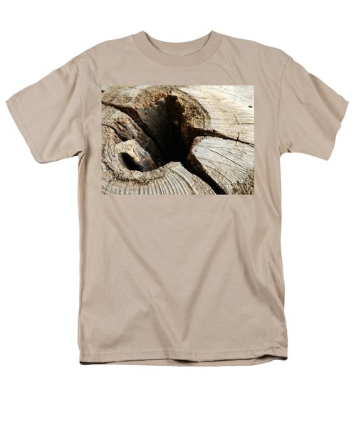 Men's T-Shirt  (Regular Fit) featuring the photograph The Hole by Clare Bevan