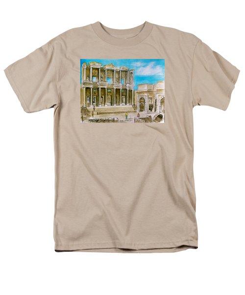 The Library At Ephesus Turkey Men's T-Shirt  (Regular Fit) by Frank Hunter