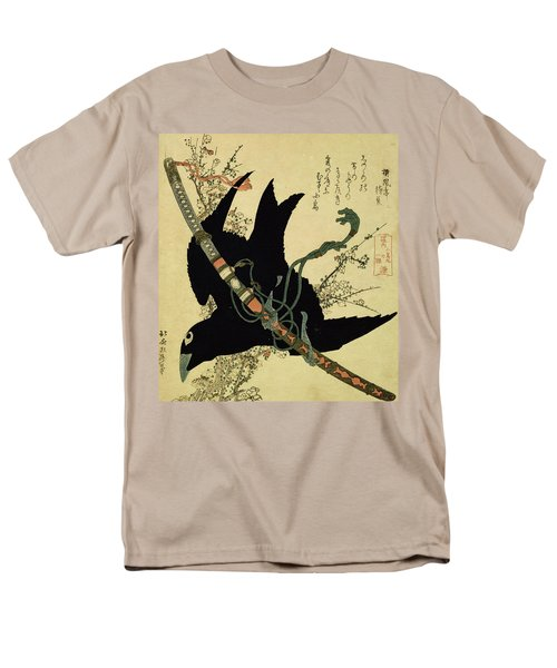 The Little Raven With The Minamoto Clan Sword Men's T-Shirt  (Regular Fit) by Katsushika Hokusai