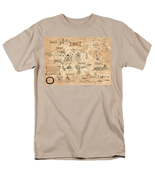 Men's T-Shirt  (Regular Fit) featuring the painting The Map Of Kira by Reynold Jay