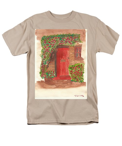 Men's T-Shirt  (Regular Fit) featuring the painting The Orange Door by Tracey Williams
