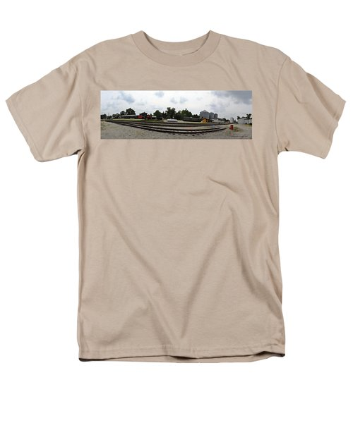 Men's T-Shirt  (Regular Fit) featuring the photograph The Railroad From The Series View Of An Old Railroad by Verana Stark