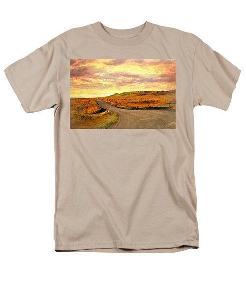 Men's T-Shirt  (Regular Fit) featuring the photograph The Road Less Trraveled Sunset by Marty Koch