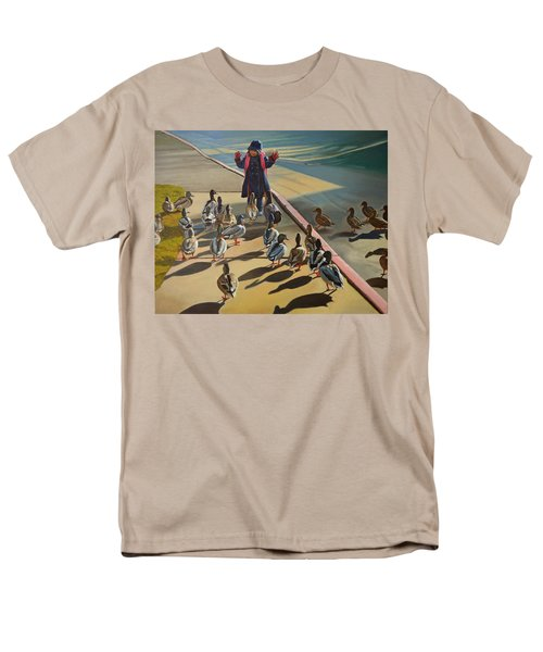 Men's T-Shirt  (Regular Fit) featuring the painting The Sidewalk Religion by Thu Nguyen