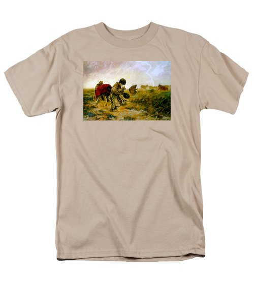 Men's T-Shirt  (Regular Fit) featuring the painting The Storm by Henryk Gorecki