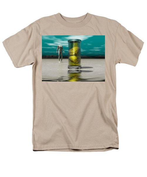 Men's T-Shirt  (Regular Fit) featuring the digital art The Time Capsule by John Alexander