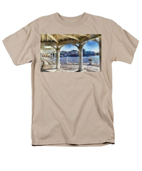 The View From The Boardwalk Gazebo Wdw 02 Photo Art Men's T-Shirt  (Regular Fit) by Thomas Woolworth