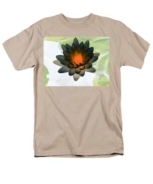 Men's T-Shirt  (Regular Fit) featuring the photograph The Water Lilies Collection - Photopower 1035 by Pamela Critchlow