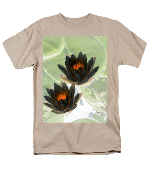 Men's T-Shirt  (Regular Fit) featuring the photograph The Water Lilies Collection - Photopower 1046 by Pamela Critchlow