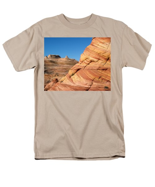 Men's T-Shirt  (Regular Fit) featuring the photograph 'the Wave' North Coyote Buttes 13 by Jeff Brunton