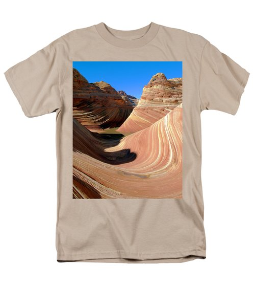 Men's T-Shirt  (Regular Fit) featuring the photograph 'the Wave' North Coyote Buttes 19 by Jeff Brunton