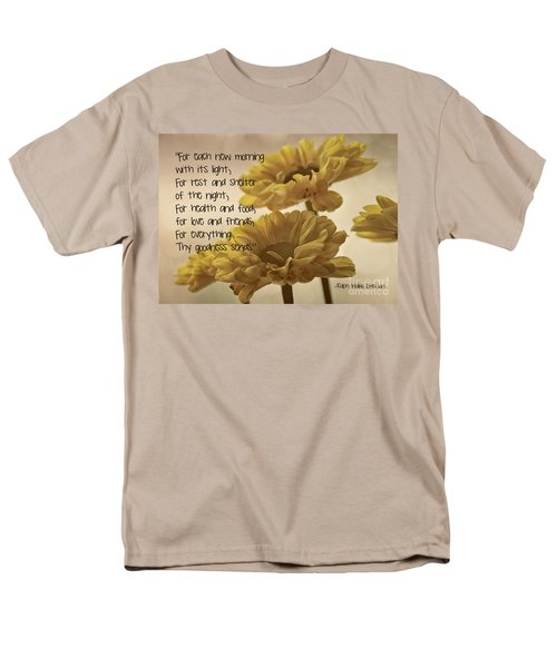 Thoughts Of Gratitude Men's T-Shirt  (Regular Fit) by Peggy Hughes