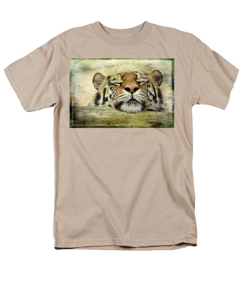 Tiger Snooze Men's T-Shirt  (Regular Fit) by Athena Mckinzie