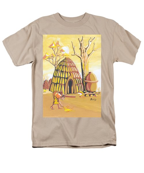 Traditional House Massa Northern Cameroon Men's T-Shirt  (Regular Fit) by Emmanuel Baliyanga