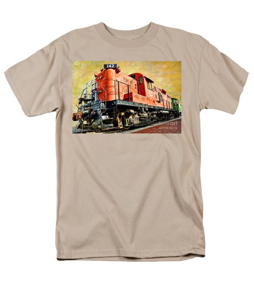 Train - Mkt 142 - Rs3m Emd Repowered Alco Men's T-Shirt  (Regular Fit) by Liane Wright