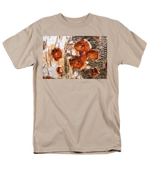 Tree Trunk Closeup - Wooden Structure Men's T-Shirt  (Regular Fit) by Matthias Hauser