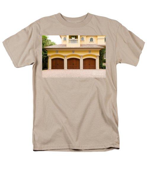 Triple Garage Doors Men's T-Shirt  (Regular Fit) by Les Palenik