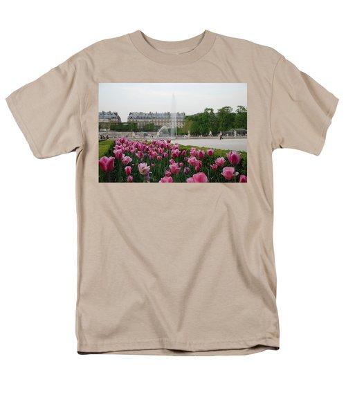Men's T-Shirt  (Regular Fit) featuring the photograph Tuileries Garden In Bloom by Jennifer Ancker