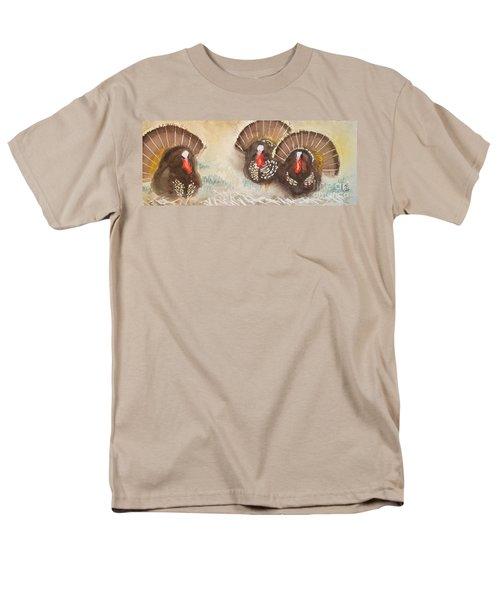 Turkeys Men's T-Shirt  (Regular Fit) by Yoshiko Mishina