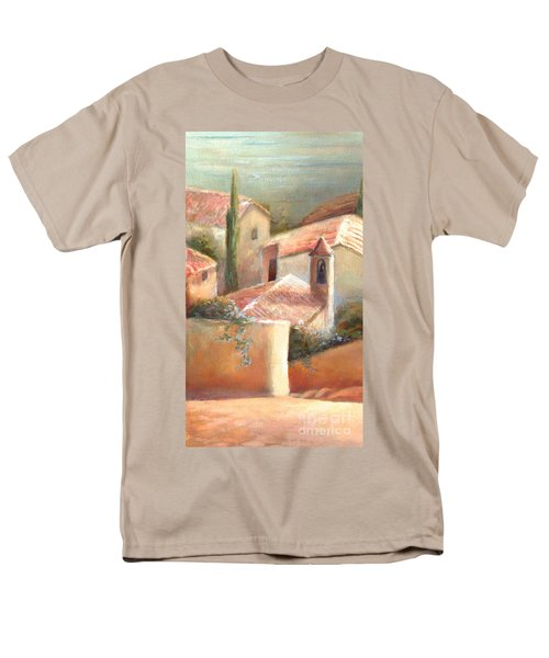 Men's T-Shirt  (Regular Fit) featuring the painting Tuscan Village by Michael Rock