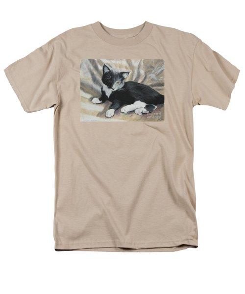 Men's T-Shirt  (Regular Fit) featuring the painting Tuxedo Kitten by Jeanne Fischer